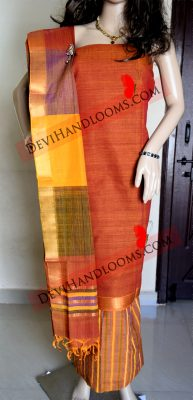 Brown-Mangalagiri-Cotton-dress material