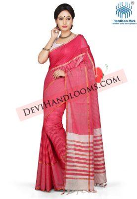 Dark Pink Color mangalagiri Cotton saree-1