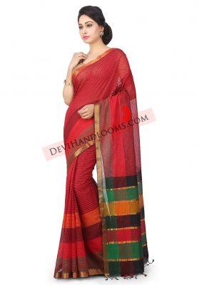 Handloom-Mangalgiri-Cotton-Saree-in-Red (3)