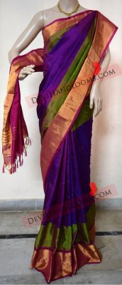 uppada-purple-with-green-color-silk-saree-with-gold-border