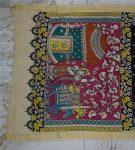 kalamkari hand painted cotton dupatta-7-3