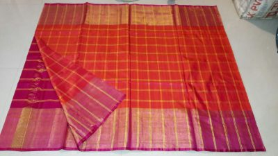 uppada checks silk saree-2