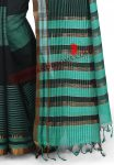 Black with Turquoise Mangalagiri Handloom Saree (5)