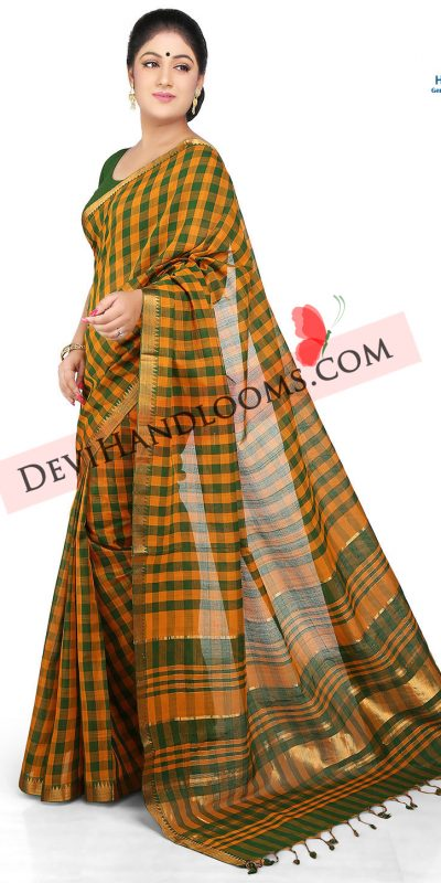 dark-yellow-color-mangalagiri-handloom-saree-1