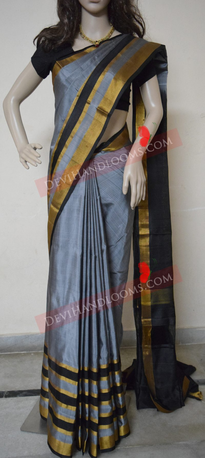 gray-color-uppada-silk-saree-front-view