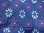 Gray color pochampally ikkath silk saree (1)
