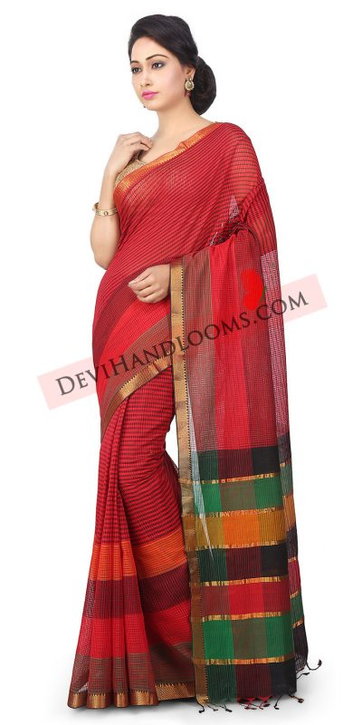 Handloom-Mangalgiri-Cotton-Saree-in-Red (3)