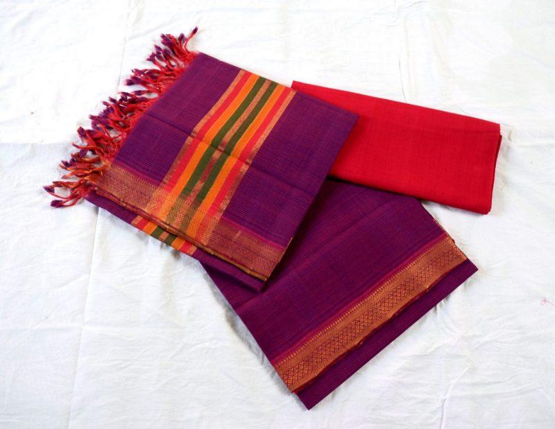 Mangalagiri Cotton Dress material6-6