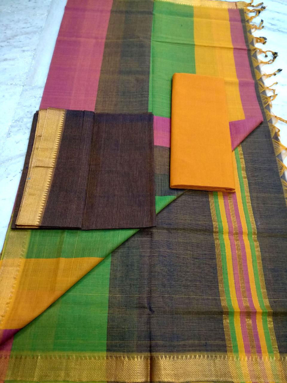 Mangalagiri cotton dress material 123