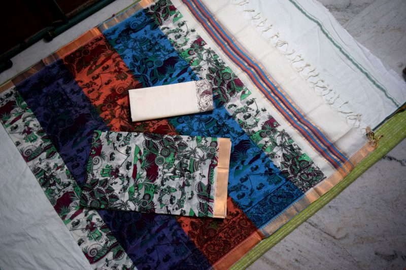 Mangalagiri cotton dress material3-5