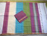 Mangalagiri light purple Color Cotton Dress material-2