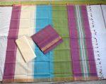 Mangalagiri light purple Color Cotton Dress material-3
