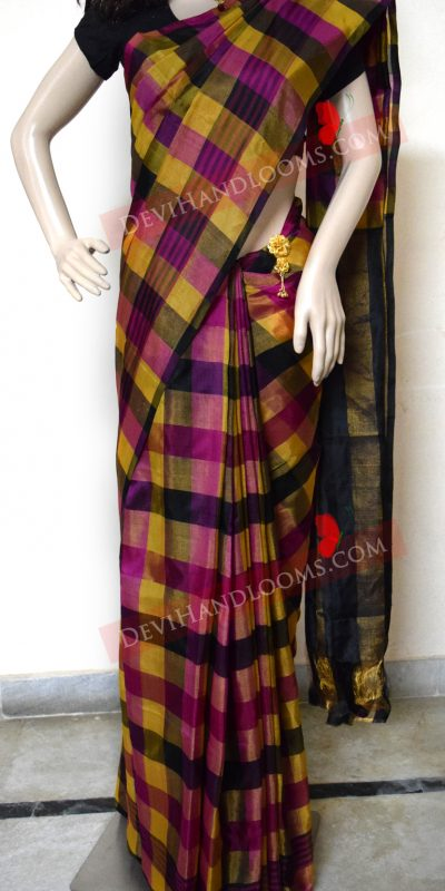 multi-color-uppadatissue-silk-sari-front-view