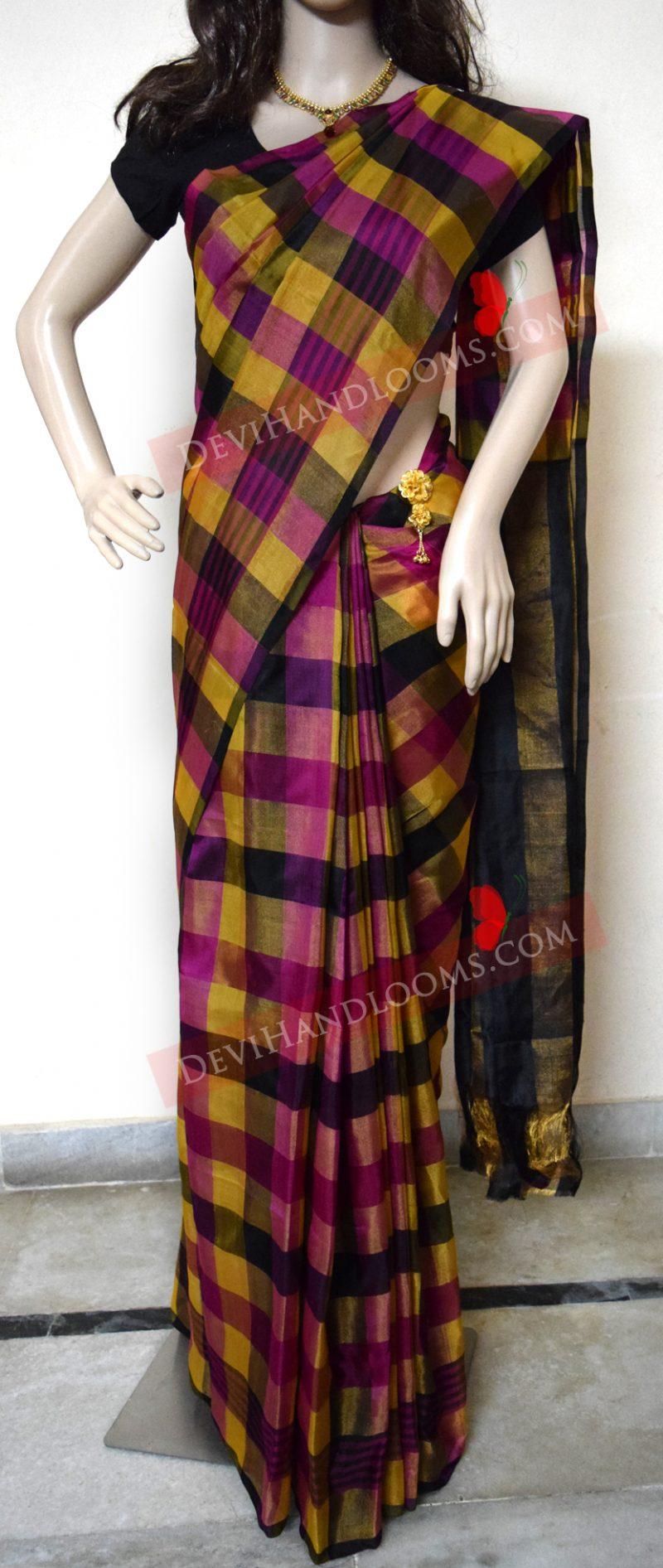 multi-color-uppadatissue-silk-sari-front-view