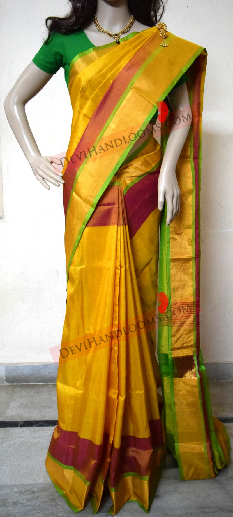mustard-yellow-uppada-pure-silk-saree-front-view