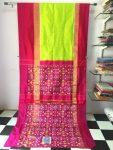 Pochampally ikkath small checked silk saree-32
