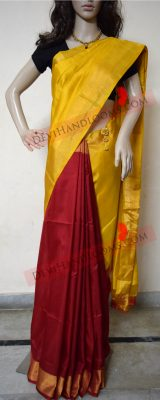 red-with-mustard-uppada-silk-saree-front-view
