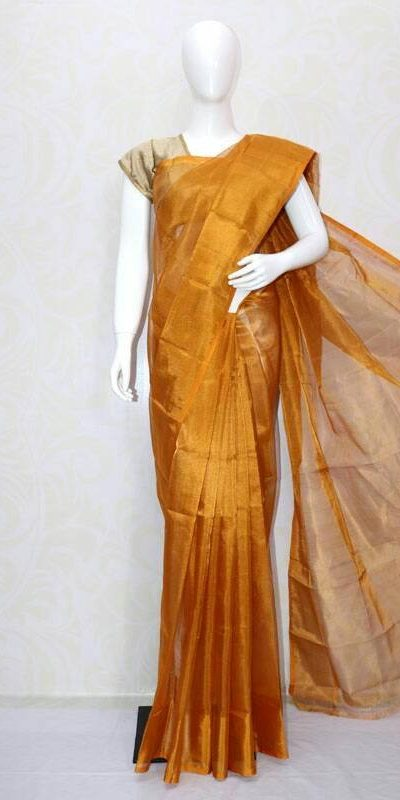 Uppad golden full tissue silk saree-1