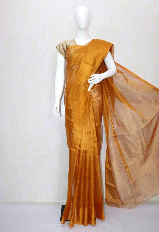 Uppad golden full tissue silk saree-1
