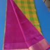 Uppada Half and half multi color checks silk saree-3