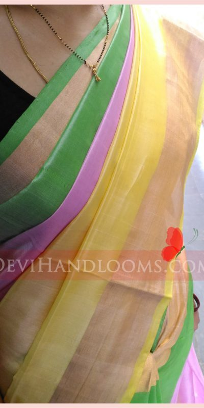Uppada Multi Color Handloom Saree - 1