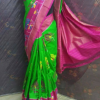 Green Color pochampally ikkath silk saree-1