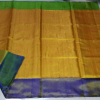 Uppada Mustard Yellow Full Tissue silk saree with two color borders12