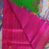 Green Color pochampally ikkath silk saree-3
