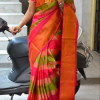 Uppada multi Color Horizontal lines silk saree