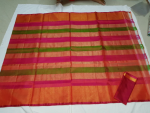 Uppada multi Color Horizontal lines silk saree-2
