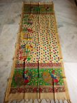 kalamkari hand painted mangalagiri Cotton dupatta-1
