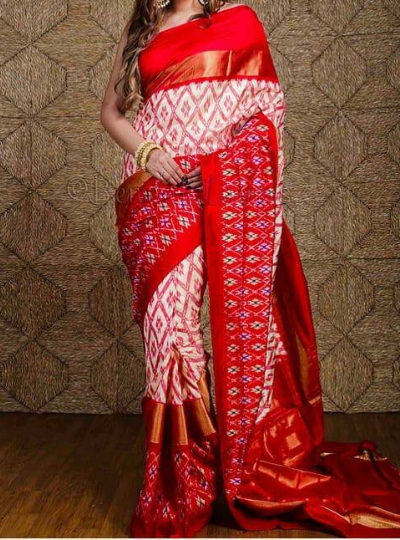 off white pochampallysaree