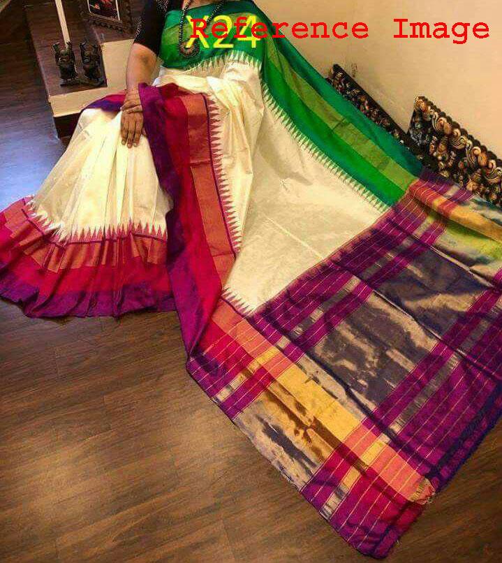 off-white-pochampally - silk-saree123