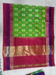 parrot green pochampally ikkath silk saree21