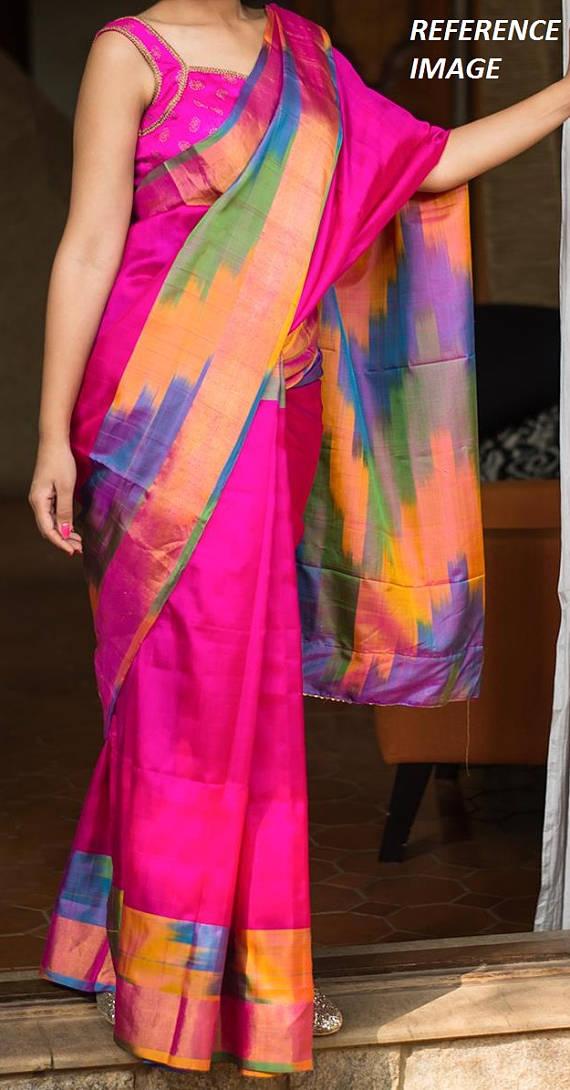pink uppada silk saree-1
