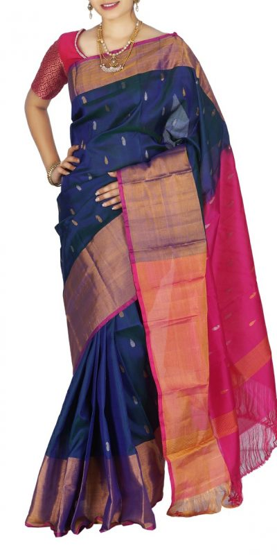 uppada Jamdhani butta design Silk saree-2