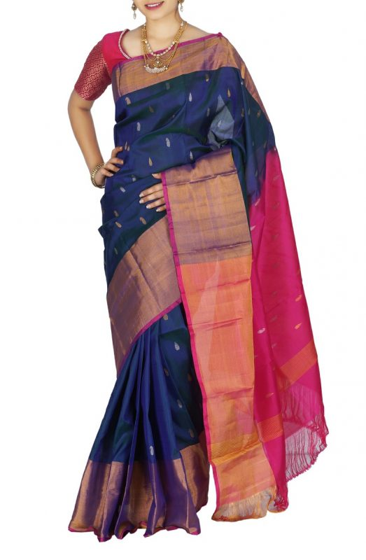 uppada Jamdhani butta design Silk saree-2